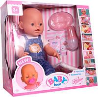 Беби Борн кукла 8009-432: 42см, 9 функций, 9 аксессуаров, механическая, 37,5х36х19 см