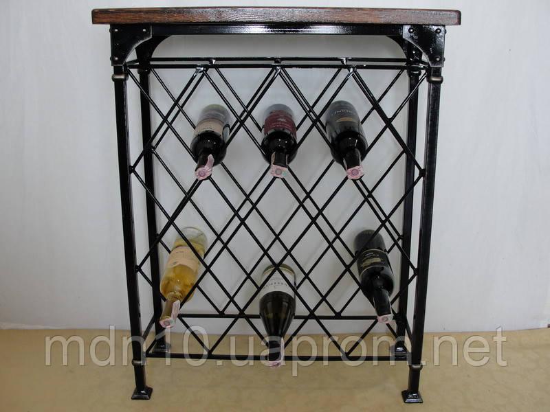 Стол-стелаж для вина кованый  - 105-3