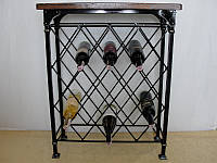 Стол-стелаж для вина кованый  - 105-3, фото 1
