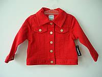 Джинсовая куртка на девочку Old Navy (красная)