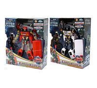 Робот трансформер 3866, игрушки для мальчиков, 3 цвета, звук, свет, коробка 35х29х11,5 см, 3+