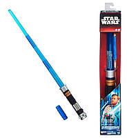 Звездные войны электронный световой меч Оби Вана Кеноби синий (звук, свет). Оригинал Hasbro