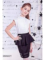 """Школьная юбка черная """"Карандаш"""" Zironka"""