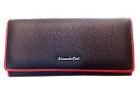 Женский кошелек Alessandro Paoli WS-1V черный из натуральной кожи
