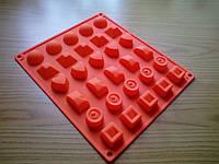 Форма силиконовая для конфет/льда Ассорти