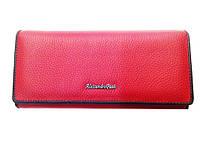 Женский кошелек Alessandro Paoli WS-1V красный из натуральной кожи монетница внутри