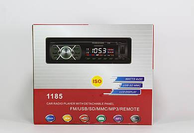 Автомагнитола MP3 1185 съемная панель  + ISO кабель (20)