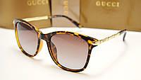 Женские солнцезащитные очки Gucci 6104 лео, фото 1