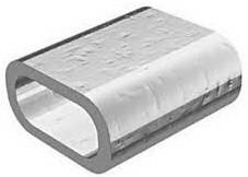 Зажим алюминиевый 1 мм (упаковка 100 шт.)