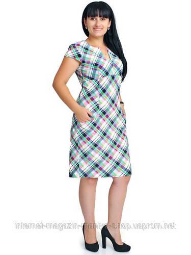 Платье женское батал, узор