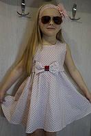 Платье летнее для девочки Горошек (3-4 года)