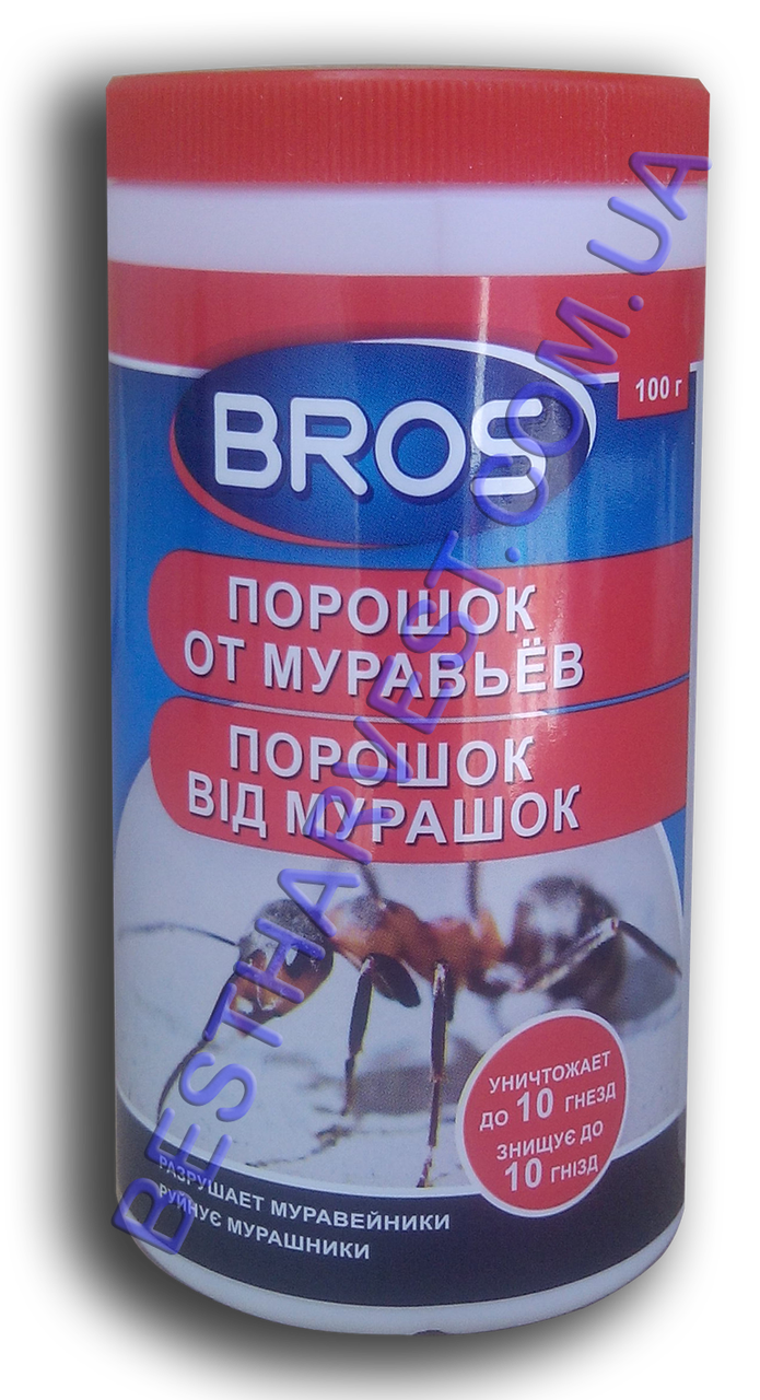 Порошок от муравьев Брос (Bros) 100 г, оригинал