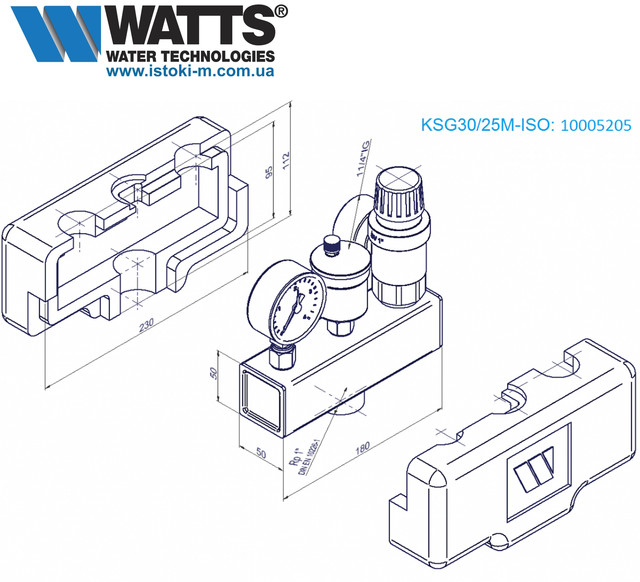 WATTS KSG 30/25M-ISO80 группа безопасности котла до 200 кВт