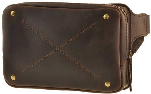 Стильная сумка на пояс DropBag 1,3 л. из натуральной кожи BlankNote BN-BAG-6-o ореховый