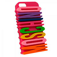 Чехол 3D Moschino Letter multi color для Apple iPhone 5/5S mix color, фото 1