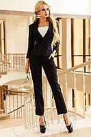 Женский черный брючный костюм Ясмин_2 42-48 размеры Jadone