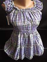 Молодежные блузочки из жатой ткани.