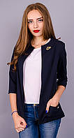Женский стильный жакет Омега синего цвета