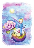 """Почтовая открытка """"Принц и Роза"""""""