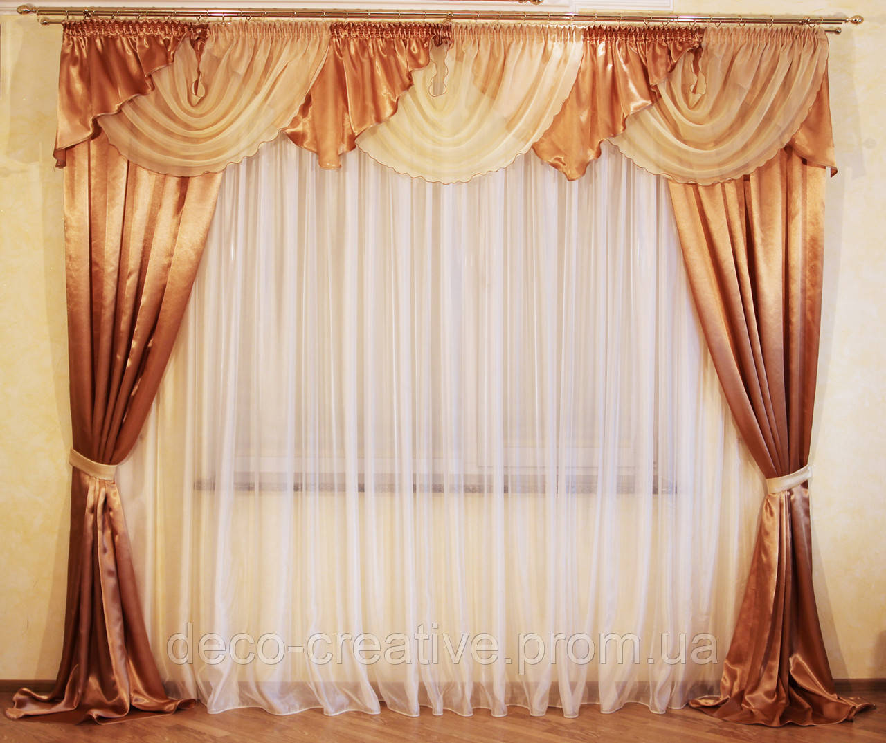 Комплект шторы + ламбрекен №18 2м