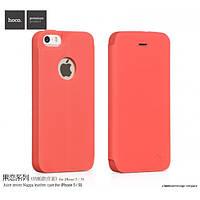 Кожаный Чехол Hoco Juice series Nappa для iPhone 5/5S красный