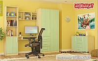 Симба набор для детской №1 (Мебель-Сервис)  береза+зеленый