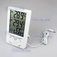 ТА298 Термометр гигрометр часы метеостанция влагометр