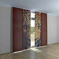 Японские фото шторы леопард