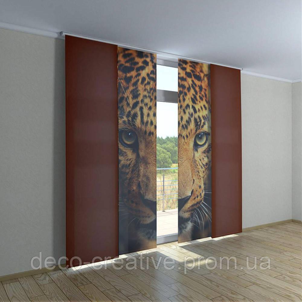 Японские фото шторы леопард - Интернет магазин deco-creative в Черниговской области