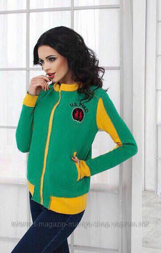 Куртка женская, логотип объемный кашемировое напыление