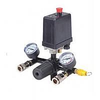 Прессостат в сборе (прессостат, редуктор, 2 манометра, предохранительный клапан, два выхода) 20E PROFLINE