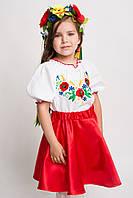 Детская вышитая блуза с коротким рукавом (О.Л.С)
