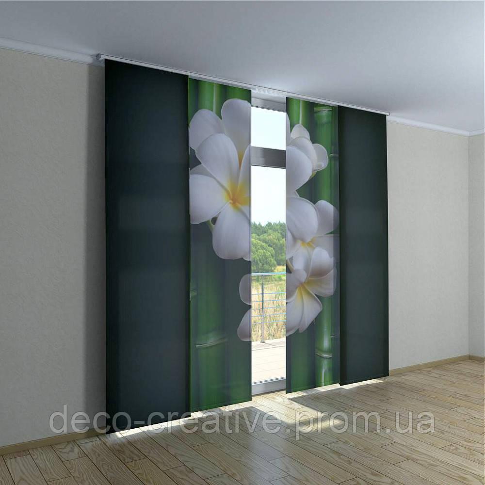 Японские шторы магнолия на бамбуке - Интернет магазин deco-creative в Черниговской области