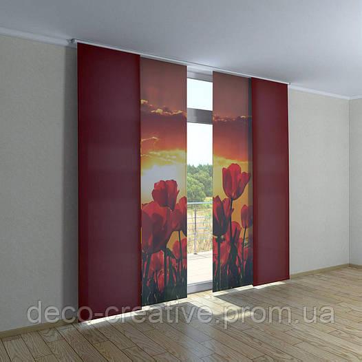 Японские фото шторы маки
