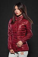 Женская демисезонная куртка. Код модели К-58-12-16. Цвет марсала.