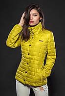Женская демисезонная куртка. Код модели К-58-12-16. Цвет гороховый.