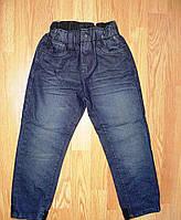 Темно-синие осенние джинсы для мальчика на резинке Glo-story 98,104р.