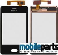 Сенсор (Тачскрин) для Nokia Asha 501 ( Оригинальный, Китай) (Черный)