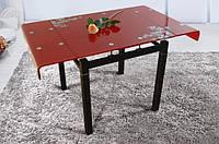 Стол обеденный Дамаск стеклянная столешница