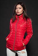 Женская демисезонная куртка. Код модели К-66-12-16. Цвет красный.