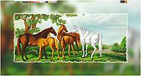 """Схема для вышивки бисером на подрамнике (холст) """"Лошади"""""""