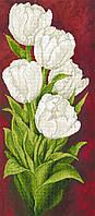 """Схема для вышивки бисером на подрамнике (холст) """"Белые тюльпаны"""""""