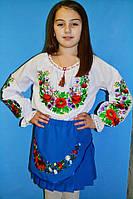 Очень красивая детская рубашка с вышивкой (О.Л.С)