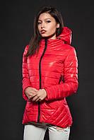 Молодежная женская демисезонная куртка. Цвет красный. Код модели К-73-12-16.