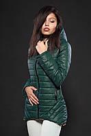 Молодежная женская демисезонная куртка. Цвет темно зеленый. Код модели К-73-12-16.