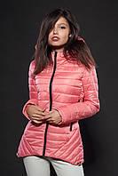 Молодежная женская демисезонная куртка. Цвет пудровый розовый. Код модели К-73-12-16.
