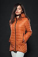 Молодежная женская демисезонная куртка. Цвет карамель. Код модели К-73-12-16.
