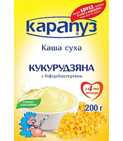 Безмолочная каша Карапуз кукурузная с бифидобактериями (в мягкой упаковке), 200 г