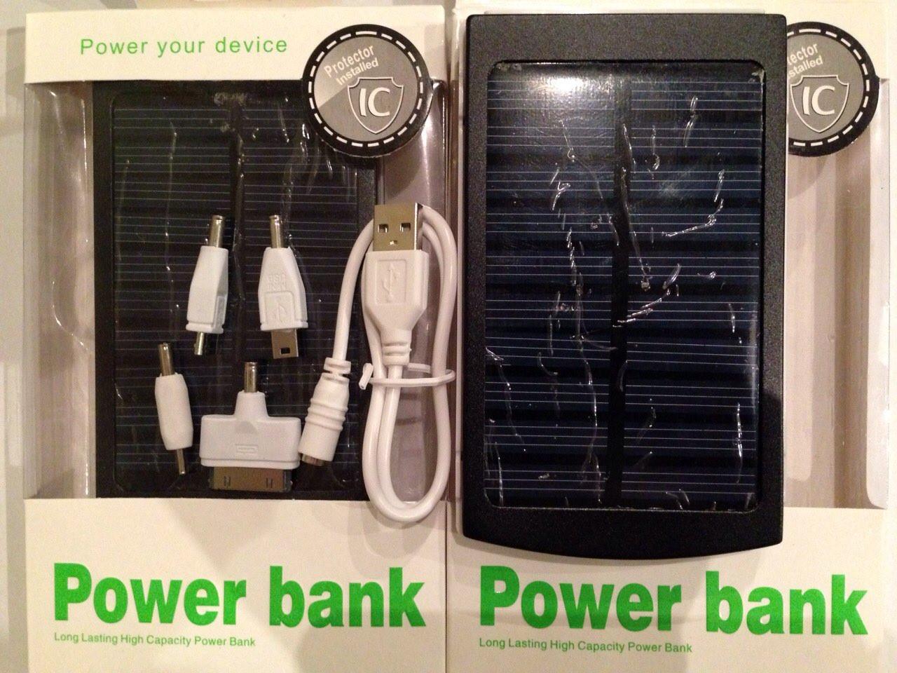 Power Bank с Солнечной батареей 20000 мА Гелевый !