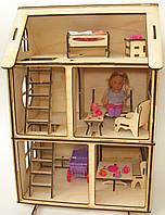 """Кукольный домик """"Алиса"""" с мебелью для Pony, Winx (mini), Steffi, Evi (12 см), фото 1"""